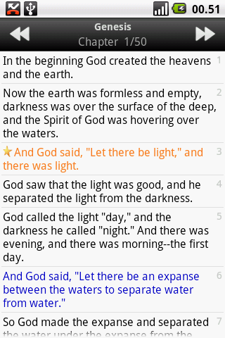 The Holy Bible (NIV) for android screenshot